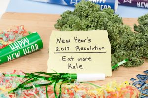 New Year 2017 Healthy Eating Resolution with Kale